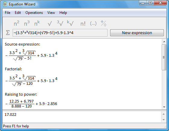 Expression calculating